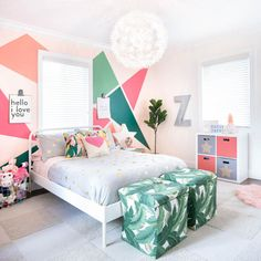 10 Girls Bedroom Decorating Ideas – Creative Girls Room Decor Tips Girls Bedroom, Teenage Girl Bedrooms, Woman Bedroom, Big Girl Rooms, Luxury Kids Bedroom, Kid Bedrooms, Trendy Bedroom, Beautiful Bedroom Designs, Beautiful Bedrooms