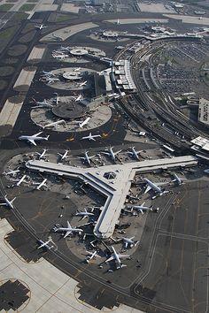 Esta es una foto de el aeropuerto de Newark. Voy a viajar a Punta Cana aquí.