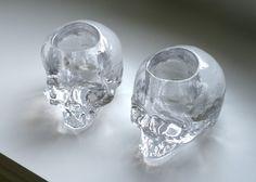 Kosta Boda, Still Life votive skull by Ludvig Löfgren.