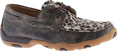 Twisted X Boots Womens Distressed Bomber Boat Shoes