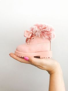 baby clothes on Baby Boutique Clothing Cute Baby Shoes, Baby Girl Shoes, Cute Baby Clothes, Girls Shoes, Pink Clothes, Baby Boots, Pink Boots, Winter Clothes For Babies, Style Clothes