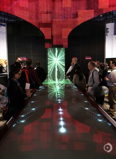 interactive media spectacle for Kodak's trade shows, including the world's largest multi-user, multitouch table. Interactive Display, Interactive Media, Interactive Design, Digital Retail, Retail Experience, Madison Square Garden, Digital Signage, Display Screen, Trade Show
