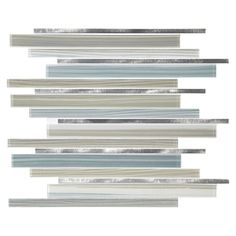 American Olean Quicksilver Mixed Material (Glass and Metal) Mosaic Linear Indoor/Outdoor Thinset Mortar Wall Tile (Common: 12-in x 15-in; Actual: 12.2-in x 15.2 Inches)