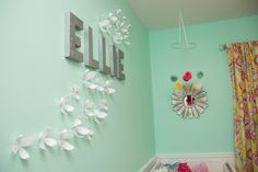 Ellie's Sophisticated and Fabulously Girly, Tiffany Blue Nursery | Project Nursery  Wall color --Sea foam Pearl