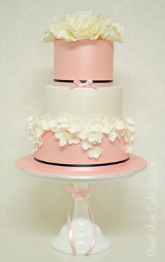 Gorgeous #pink  #wedding #cake inspired by Yummy Cakes and Cupcakes www.finditforweddings.com