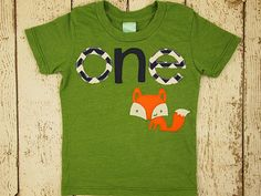 Fox shirt woodland themed birthday shirt by lilthreadzclothing