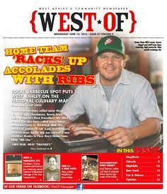 West Of Newspaper Cover Story