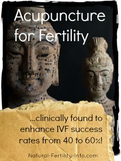 Acupuncture for #Fertility...clinically found to enhance #IVF success rates from 40 to 60%. If you're spending $25,000 for this procedure, why not ensure that it will be 60% more effective?
