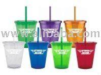 Doublewall Acrylic Tumbler With Straw - Buy Plastic Tumbler With Straw Product on Alibaba.com