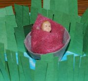 Sunday School Bible Craft Baby Moses in Egg Cup