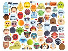 StarWars emoji by Aleksandar Savic #Design Popular #Dribbble #shots
