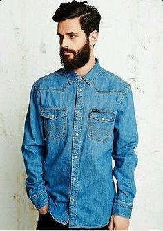 Wrangler Denim Shirt ⊙ Hipster ⊙ Indie ⊙ Vintage ⊙ Size L