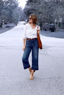 I love well tailored, structured, wide-legged cropped pants. Right now thighs are probably too big for them, but maybe there's a magical pair out there somewhere that would fit me.