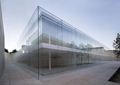 Double Skin Glass Buildings - The Castilla y Leon Office by Alberto Campo Baeza is Enclosed by Stone (GALLERY)