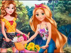 Rapunzel y su amiga Belle: vamos andar en bicicleta ► videos y juegos DI...