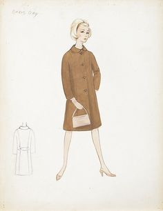 "Irene (2) vintage original costume sketches of Doris Day as ""Be... Lot 514"