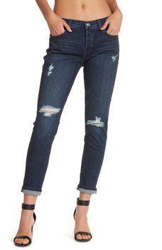 7 For All Mankind Josefina Distressed Boyfriend Jeans
