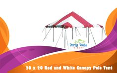 Get the Free Shipping on Red and White Canopy Pole Tent Complete. Save $100.00 on this amazing Product. #CanopyPoleTent #PartyTent #RentalBusiness