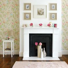 Unused Fireplace, Fireplace Update, Fake Fireplace, Fireplace Design, Fireplace Ideas, White Fireplace, Simple Fireplace, Fireplace Modern, Fireplace Wall