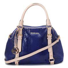 a62606c80ed8 Michael Kors Bowling Large Navy Satchels Outlet Fashion Bags, Fashion  Handbags, Mk Handbags,