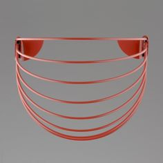 Wallment Baskette wall basket in Red. Wall Basket, Baskets On Wall, Powder Paint, Painted Metal, Design Products, Metallic Paint, Mini, Red, Color
