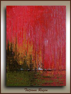 24x18 ORIGINAL acrylic painting art by Tatjana by studiomosaic, $155.00