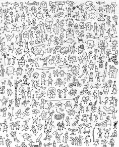 cherche et trouve - chez Camille Stick Figure Drawing, Stick N Poke Tattoo, French Classroom, Hidden Pictures, French Immersion, Stick Figures, Doodle Drawings, Doodle Art, Colouring Pages