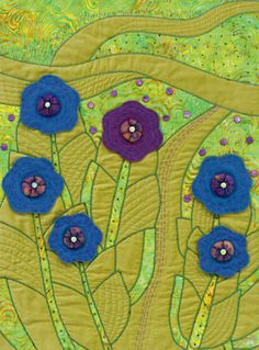 Wildflower Walk quilt by Rose Hughes. Exploring Embellishments.