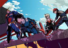 Boku no Hero Academia || All Might, Midoriya Izuku, Katsuki Bakugou, Todoroki Shouto.