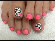 Diseños de uñas | Pedicure - YouTube