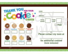 Girl Scout Cookie Sheet Printable | Cookie order form recipe ...