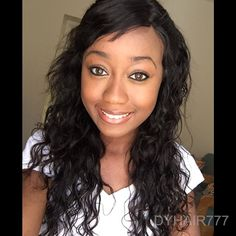 Side part wavy hair look shared by johnnybear. Hair info: Burmese loose wave 16 18 20 with a frontal http://www.dyhair777.com/Burmese-Virgin-Hair.html