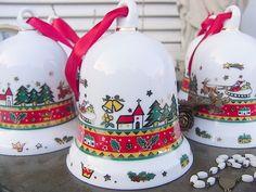 Vintage Weihnachtsdeko - 1 Weihnachtsglocke Christbaumschmuck Glocke shabby - ein Designerstück von artdecoundso bei DaWanda