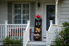 Great idea: use an old ladder as a planter on your front porch: http://www.front-porch-ideas-and-more.com/richfield-ohio.html