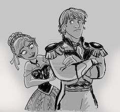 Anna and Kristoff the Future Prince. Looks like Kristoff doesn't approve about being a Prince, but I bet he is still very happy that he's with Anna.