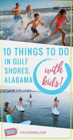 10 Exciting things to do in Gulf Shores, Alabama with kids.  A vacation to Gulf Shores is a bucketlist family travel destination! Aside from spending time at the incredible beach, there are great restaurants,  attractions that both kids and adults will love, plenty of condo rentals offering plenty of space to relax, and so much more! Pack up the kids for spring break or summer vacation and take a road trip to Gulf Shores! #alabama #sweethomealabama #travelwithkids #travelmamas