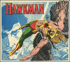 Hawkman by Joe Kubert. This is a DC Comics character whose concept in either his Silver 60's or Golden 40's age version I have found appealing. A favorite DC comics character that has rarely been developed and used with much success. The Brave and the Bold issues featuring Hawkman by Gardner Fox and Joe Kubert were excellent however.