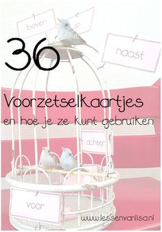 Miss Amanda, my dear colleague, gave me the idea of ​​preposition cards. I have made a set of 36 pie School Info, Back To School, Fun Learning, Learning Activities, Learn Dutch, Dutch Language, Busy Boxes, Spelling And Grammar, 21st Century Skills