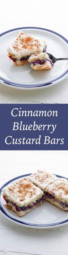 Cinnamon Blueberry Custard Bars