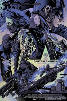 """marvelentertainment: """" Grey Matter Art unleashes two """"Captain America: The Winter Soldier"""" prints! Which one's your favorite? """""""