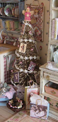 Shabby Christmas scene. . .