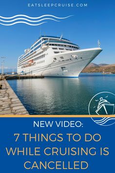 With the current global health crisis, all cruising has been suspended for the foreseeable future. As avid cruisers, we are all hoping to head back out to sea some day soon. While we are stuck in this drydock, there are certain things you can do to keep that cruise spirit alive. We have put together this list of the 7 Things You Can Do at Home Now that Cruising is Cancelled. #cruise #cruisetips #eatsleepcruise #thingstodo Best Cruise, Cruise Port, Cruise Travel, Cruise Vacation, Cruise Excursions, Cruise Destinations, Packing List For Cruise, Cruise Tips, Cruise Planners