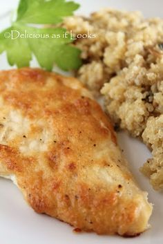 Creamy Parmesan Chicken (my favorite chicken recipe made with reduced fat mayo and parm)