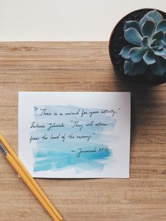 Those lavender and teal tones  #succulent #succulents #watercolor #lavender #teal #blue #ombre #woodgrain #handlettering #handlettered #lettering #typography #paint