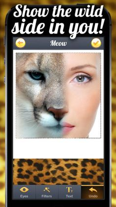 TigerEyes - Blend Yr Face to Ultra Awesome Tiger, Reptile or Cat Eyes Splits! on the App Store