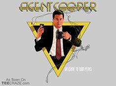 Agent Cooper T-Shirt - http://teecraze.com/agent-cooper-t-shirt/ - Designed by Mephias #tshirt #tee #art #fashion #clothing #apparel #TwinPeaks