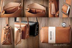 Leather Purse cross body purse leather handbag brown por MrLentz