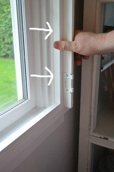 Easy DIY Plantation Shutter Installation - Setting Your Frame In Place Diy Plantation Shutters, Diy Shutters, Interior Windows, Interior Window Shutters, Indoor Shutters For Windows, Blinds For Windows, House Windows, Decorating Websites, Design Websites