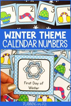 Winter Calendar Numbers for your classroom calendar - perfect for December, January or February!Includes mitten, scarf, hat & earmuff calendar numbers in an ABCD pattern.Can be used in a pocket chart calendar or for various number activities. Calendar Activities, Number Activities, Kindergarten Classroom, Classroom Decor, First Day Of Winter, Calendar Numbers, Classroom Calendar, School Events, Scarf Hat