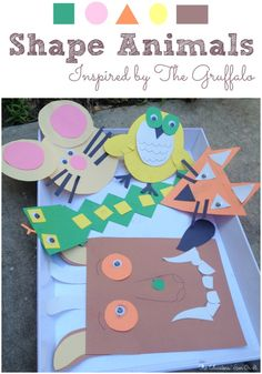 Exploring shapes with young children can be such fun when you involve a few animals friends fromThe Gruffalo. Using playful shapes let's explore the characters in the book created by Julia Donaldson to create Shape Animals. The Gruffalois a playful story based on an old Chinese folktale of a fox and a tiger. Julia creates …